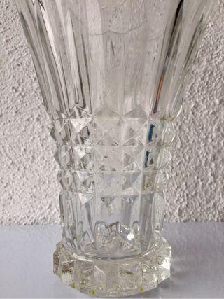 Jarrón de cristal vintage