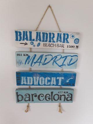 colgante de pared madera Madrid Barcelona