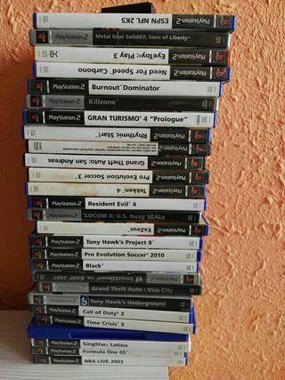 lote de juegos de PlayStation 2