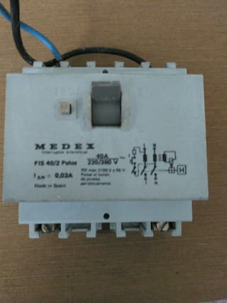 interruptor diferencial Medex 40A 2p, envío postal
