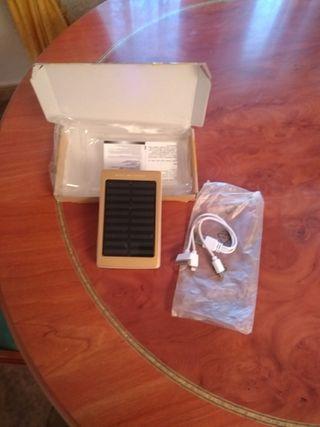 cargador solar dos salidas 10000mAH
