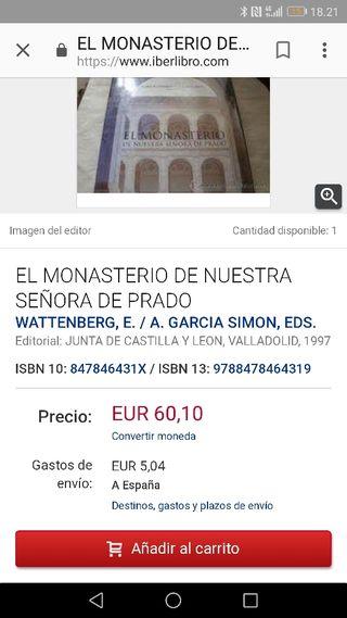 Libro Monasterio del Prado de Valladolid