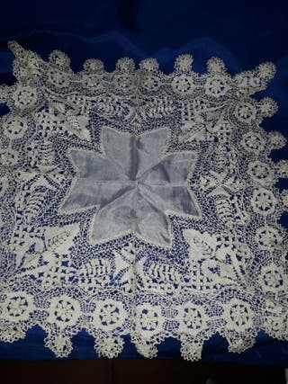 maravilloso pañuelo de la virgen encaje