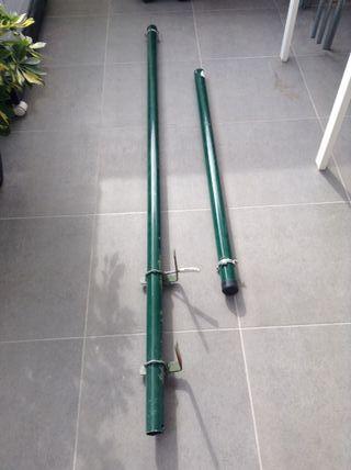 Postes de acero verde UNIVERS 48 MM