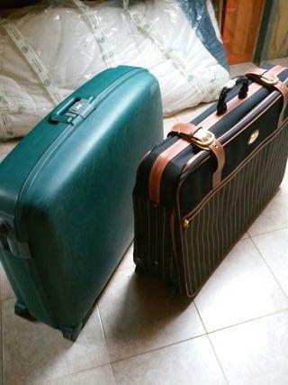 maleta maletas rigida y tela