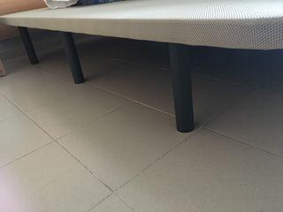 Somier con base tapizada 1,50x2 metros