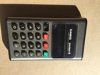 Calculadora vintage casio mini pocket.