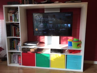 TV Storage Unit LAPPLAND and 4 boxes ... & TV Storage Unit LAPPLAND and 4 boxes de segunda mano for £90 in ...