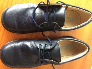 Zapatos comunion niño talla 34 azul marino