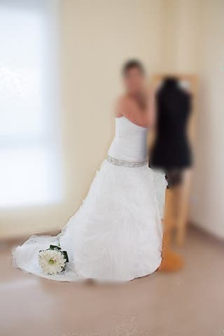 Traje de novia. Marca Rosa Clara Aire
