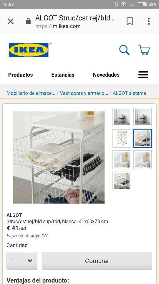 Lujoso Mueble Del Sistema De Algot Ikea Viñeta - Muebles Para Ideas ...