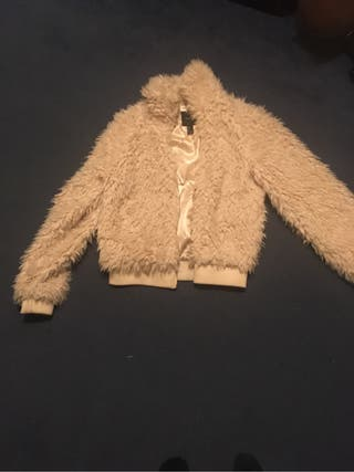 Nude coat size L (forever 21)