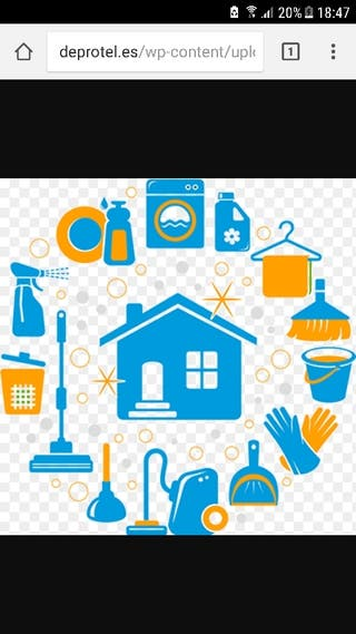 Limpieza y cuidado de personas mayores y niños.