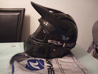 casco moto shark xplore R carbono