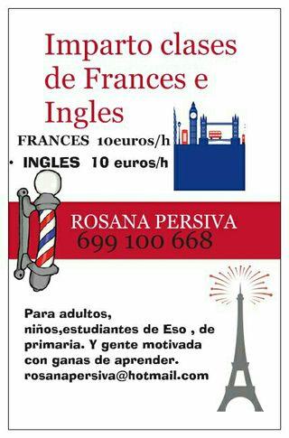 Doy clases de Frances e Ingles