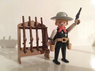 PLAYMOBIL SHERIFF CON ARMERO REF 3381
