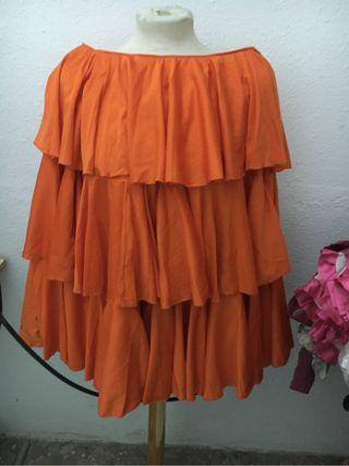 Falda de ensayo flamenco