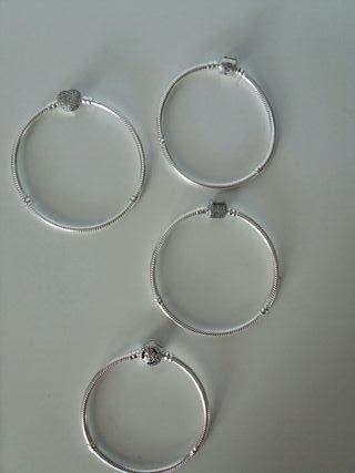 pulseras imitacion plata de ley