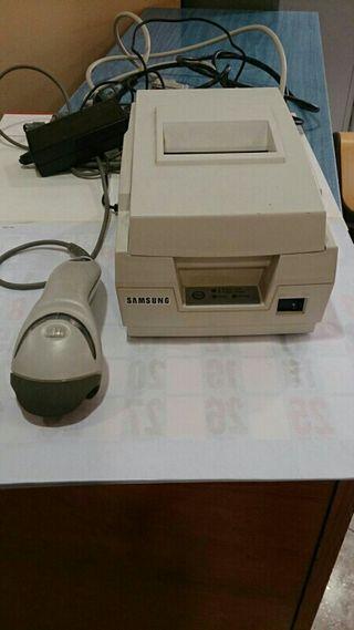 Impresora de ticket y lector de codigos