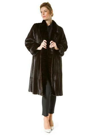 abrigo de visón de hembras, reversible