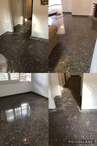 Restaurador de suelos Terrazo mármol hidráulico mosaico encimera