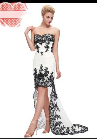 Vestido de novia para boda civil negro