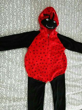 disfraz mariquita 2 a 4 años