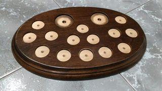 Base miniaturas madera perforada modelo 3