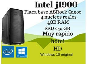 Ordenador PC Intel Quad Core 4GB RAM 240SSD HDMI