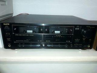 Sanyo RD W8300 doble pletina de cassette