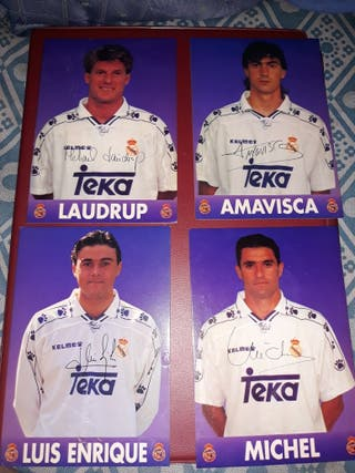 postales del real madrid antiguas 1995¡!¡