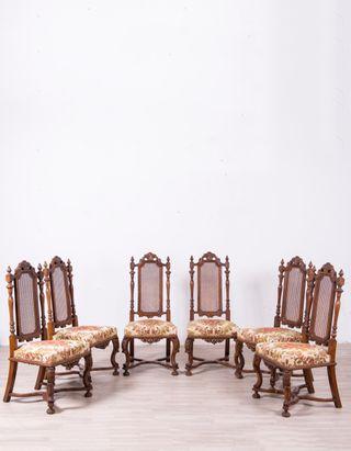 Juego de sillas antiguas de segunda mano por 525 en for Sillas antiguas segunda mano