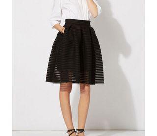 maje jupe noire taille 1