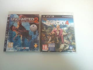 Vendo juegos de PS3: Uncharted 2 y Far cry 4