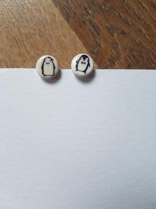 Pendientes Pingüinos Manitas de Plata