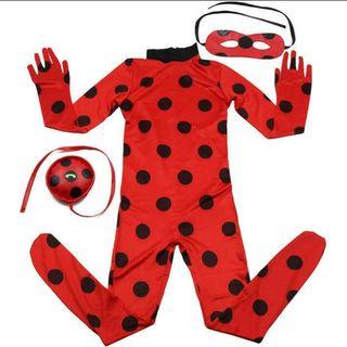 Disfraz ladybug 8 a 10 años elástico