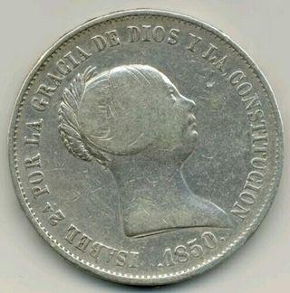 moneda antigua de plata de 20 reales
