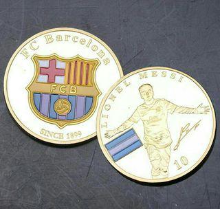 Monedas conmemorativas del f.c barcelona y Messi