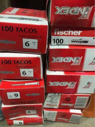Liquidacion tacos s 6 mm ferreteria
