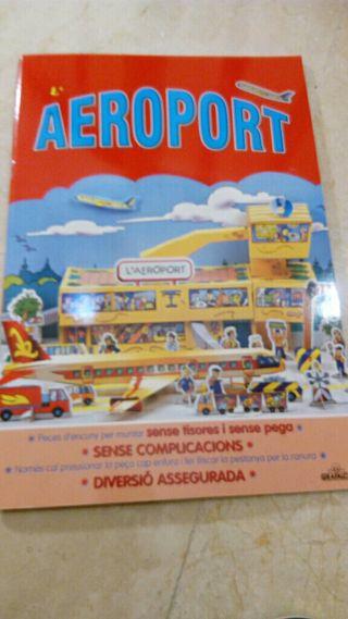 juego cartrón construye un aeropuerto