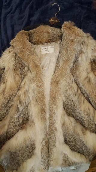 Abrigo de piel de Lince Canadiense original