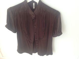 Morgan de seda camisa de mujer talla 38
