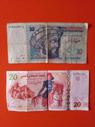 billetes de tunez