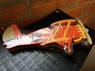 avió clàssic amb hèlix puzzle fusta