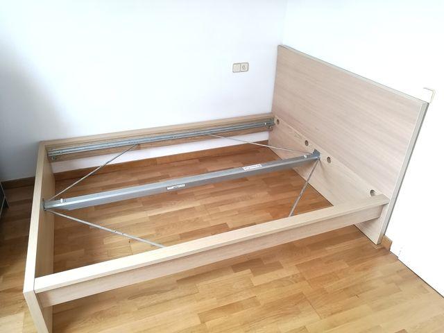 Cama Malm Ikea 140 x 200 de segunda mano por 45 € en Palma de ...