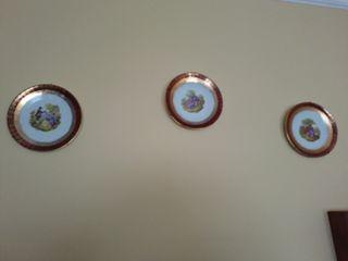 Pratos decorativos estilo romántico