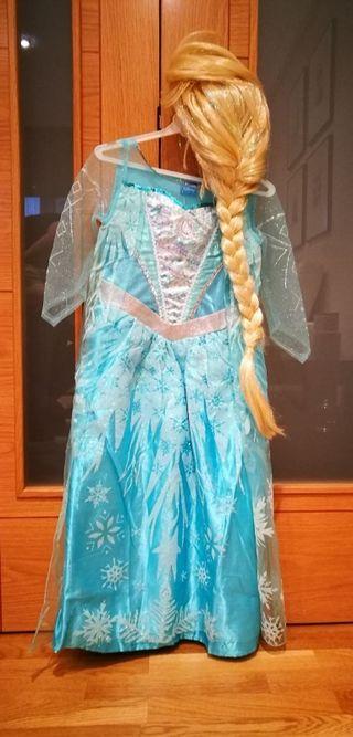 Disfraz y peluca de Frozen