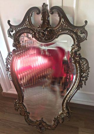 Espejo retro vintage antiguo