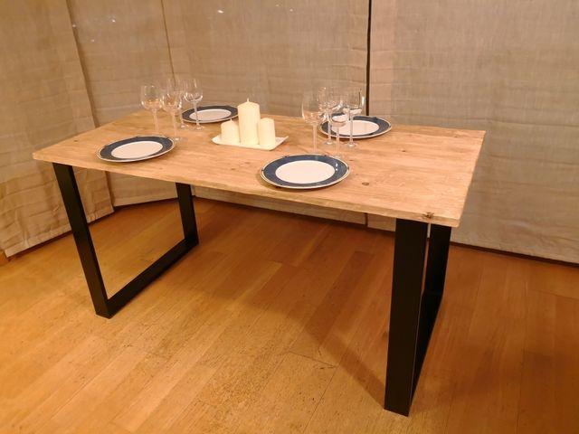Mesa comedor de estilo industrial de segunda mano por 250 en barcelona en wallapop - Wallapop mesa comedor ...