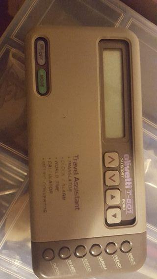 Olivetti T-601 traductor de viaje, calculadora